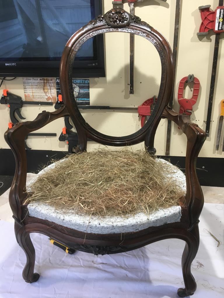 rempaillage fauteuil